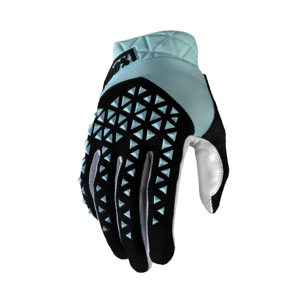 100% rukavice GEOMATIC SKY BLUE