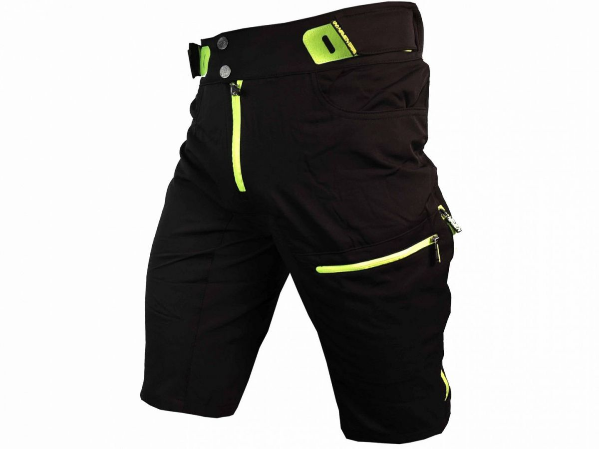 Haven Singletrail kraťasy bike shorts black-green