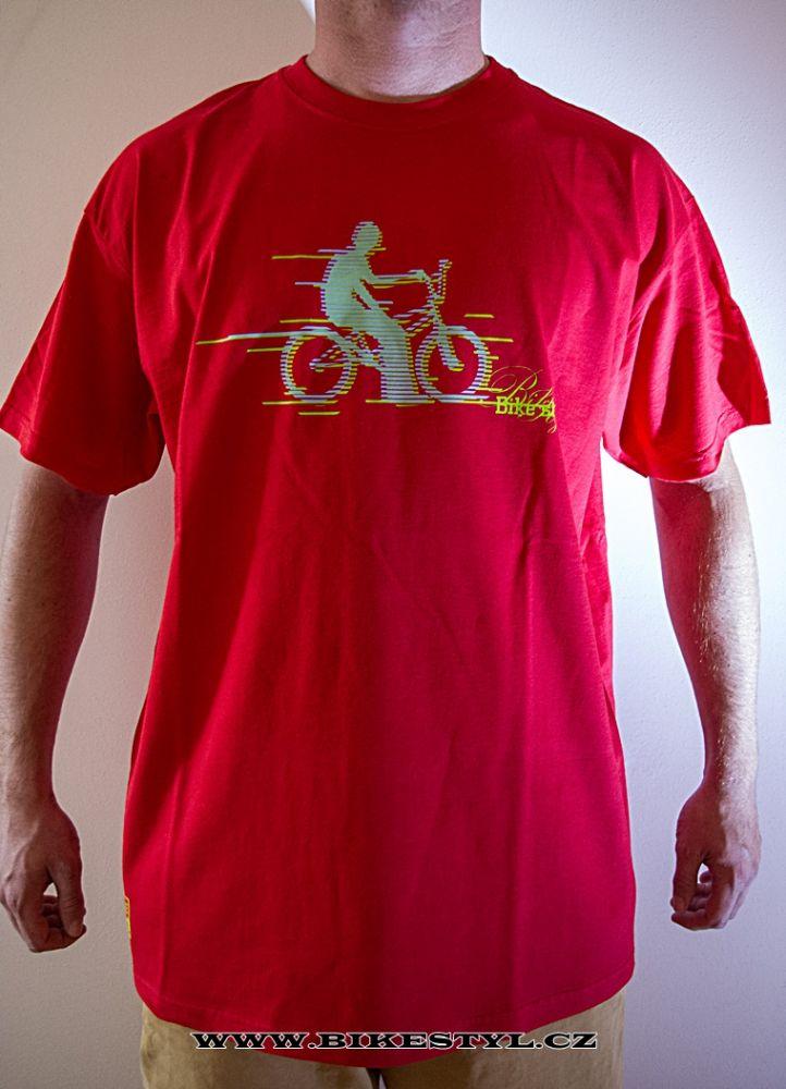 Triko Bikestyl BMX červené