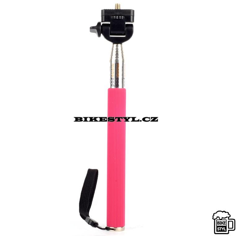 Selfie Monopod teleskopická tyč růžová