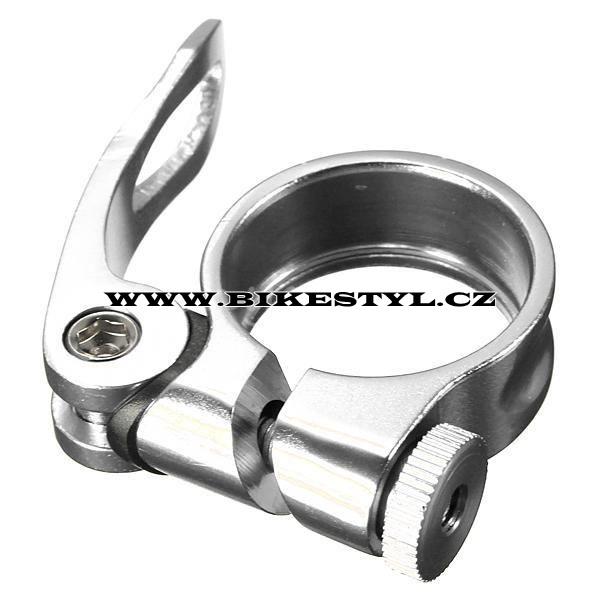 Sedlová objímka 34,9 mm Bengal stříbrná