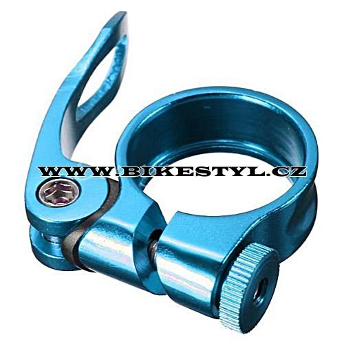 Sedlová objímka 31,8 mm Bengal modrá