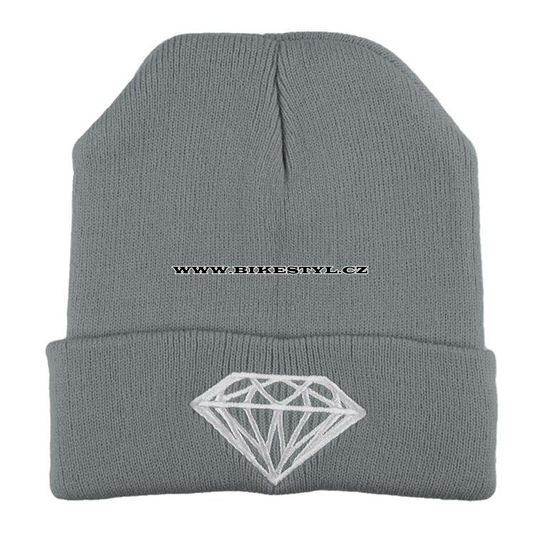 c23c9a74d97 Diamond zimní pletena čepice šedá