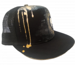 Kšiltovka UZU original snapback black gold