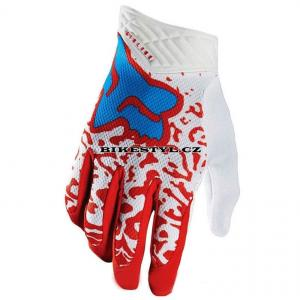 Fox Racing rukavice Airline White Red M