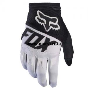 Fox Racing Dirtpaw 2017 rukavice White-Black XL
