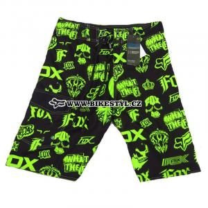 Fox Racing plavky black-green boardshort