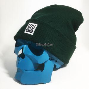 1bb950f738b ... UZU zimní pletená čepice unisex green
