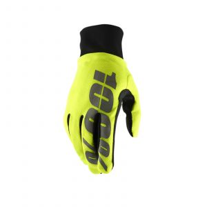 100 Percent HYDROMATIC WATERPROOF GLOVE neon yellow