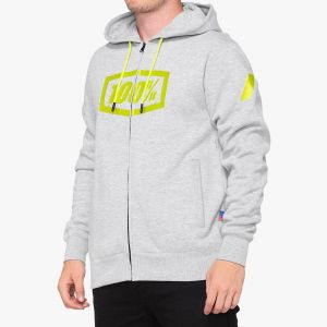 Pánská mikina 100% Syndicate hooded zip sweatshirt grey geather