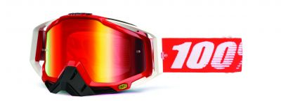 Brýle Racecraft goggle Fire red - mirror red lens