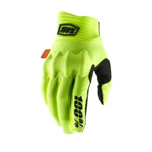 100% rukavice Cognito gloves fluo yellow-black