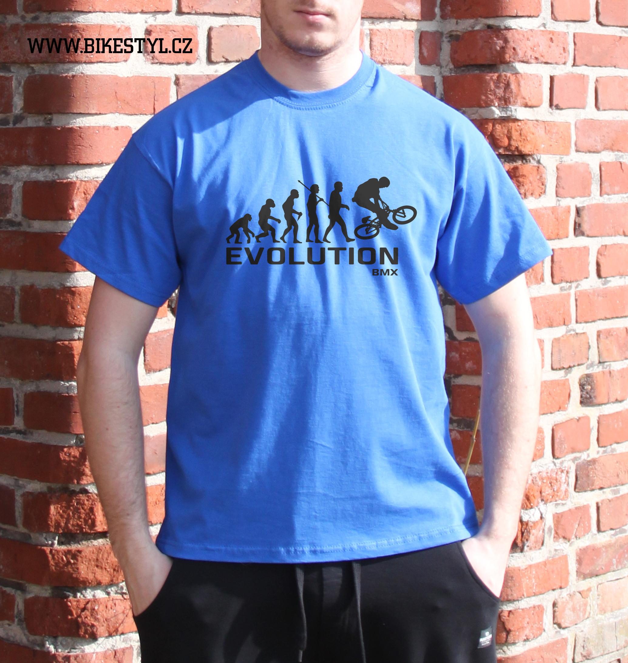 4614025e0513 pánské tričko BMX Evolution bikestyl blue