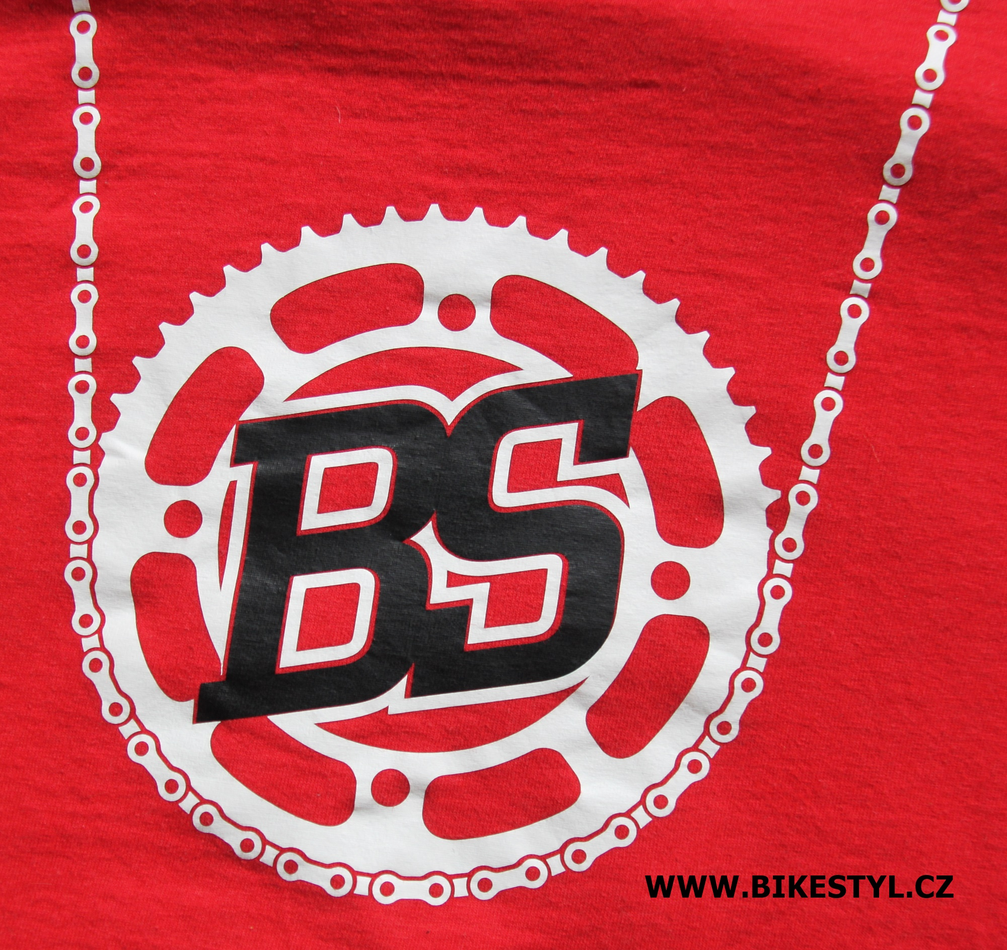 Bike Style T-Shirt men red