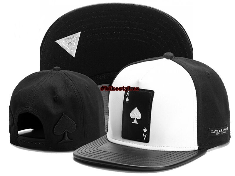 Kšiltovka Poker Card black white snapback