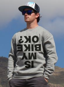 mikina Is my bike ok? unisex grey hoodie