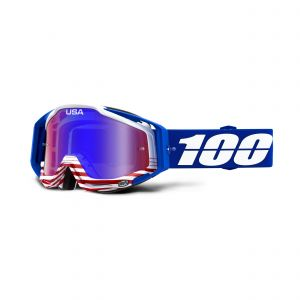 100% brýle RACECRAFT goggle Anthem Mirror red-blue lens