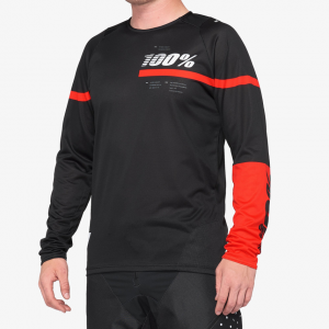 R-CORE JERSEY BLACK/RED dres