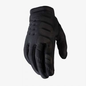 100% rukavice BRISKER GLOVES BLACK-GREY YOUTH