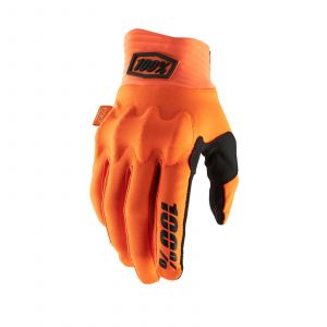 100% rukavice Cognito gloves orange black S