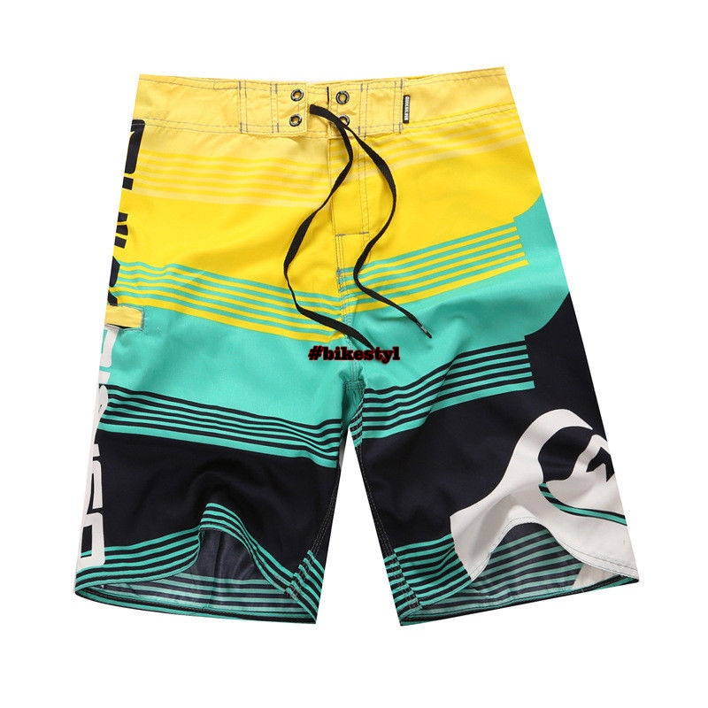 plavky Quiksilver yellow green black